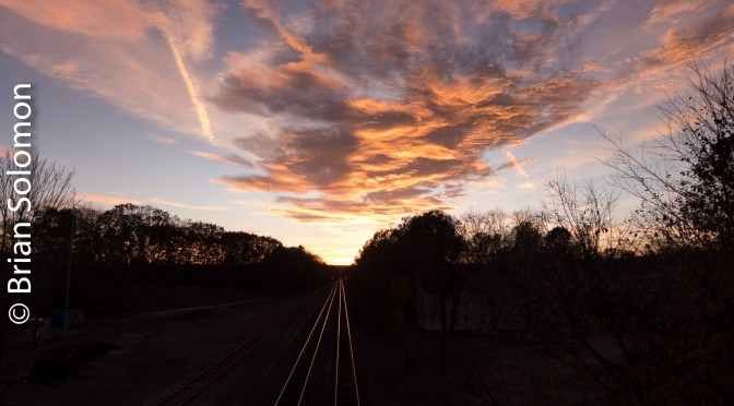 Sunset on the Boston & Albany at East Brookfield—Working with RAW Files.