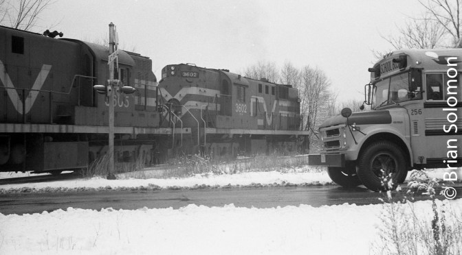 Central Vermont RS-11s on this Day in 1983.