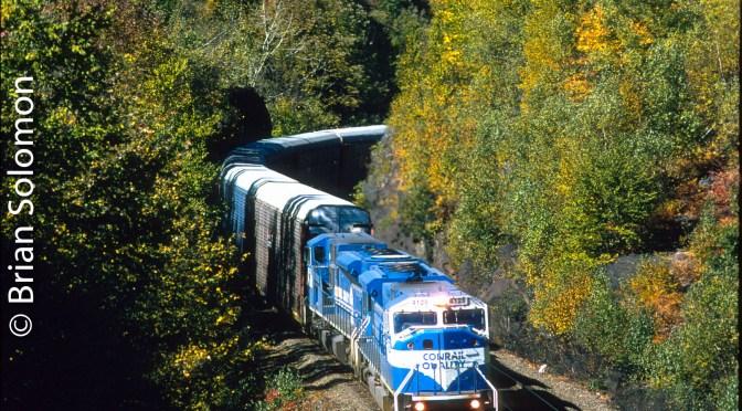 Conrail Classic Chrome—SD80MACs at the Twin Ledges.