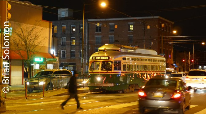 SEPTA at Night on Girard Avenue.