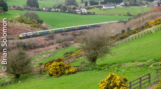 Irish Rail Mark4 in Verdant Countryside.