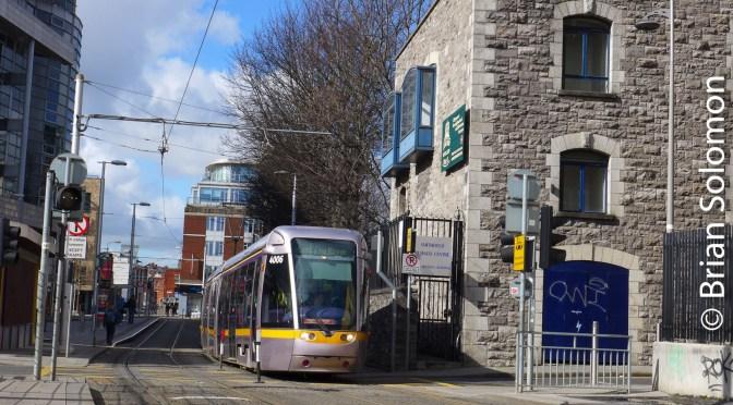 Dublin's LUAS at Smithfield—March 2017.