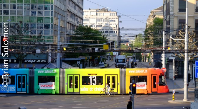Colour in the Streets; Geneva's Trams.