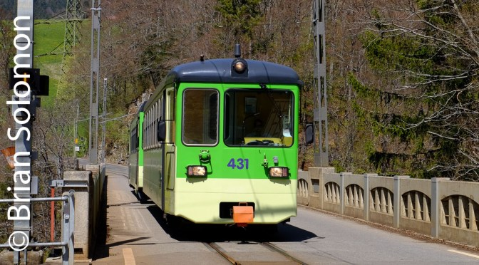 Bright Green Narrow Gauge Trains of the Alps