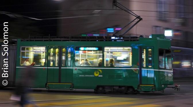 Nocturnal Basel Tram Pan