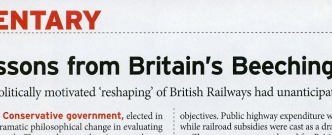 July 2017 Trains Magazine features Brian Solomon's column on pages 16-17.