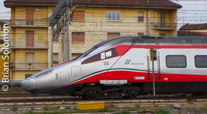 TrenItalia ETR600 panned with my Lumix.
