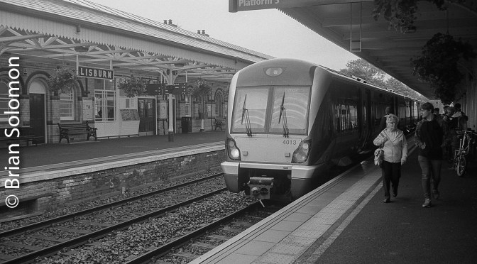Lisburn Station in Black & White.