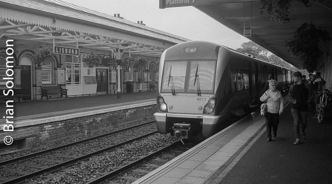 Lisburn Station in Black & White.