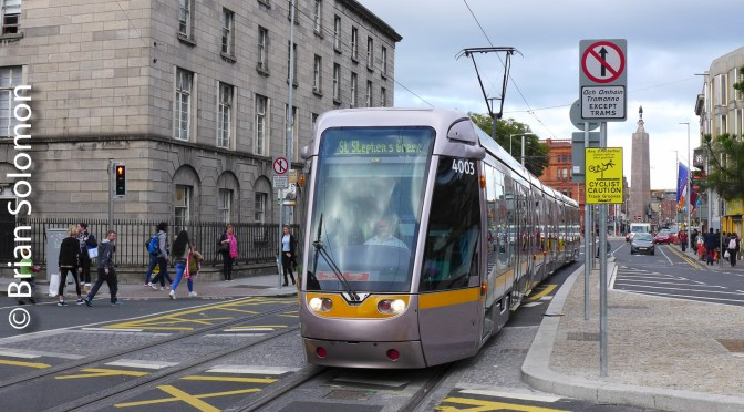 LUAS Trial on Culture Night—22 September 2017.