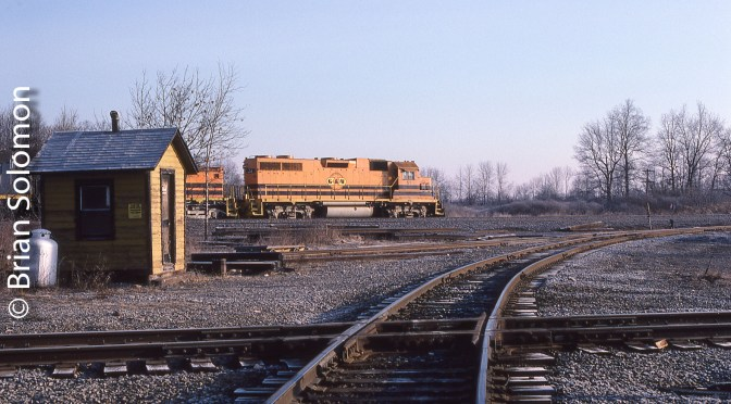 From my Kodachrome Archives: Genesee & Wyoming 51 at P&L Junction.