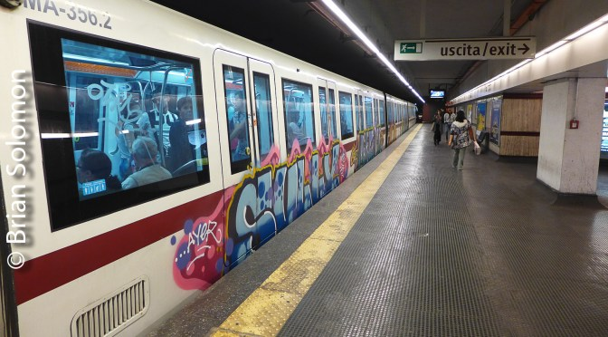 Ten Subterranean Views: Rome Metro September 2017.