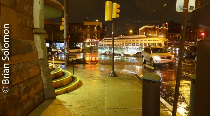Seeking Streetcars on a Rainy November Night; 10 New Photos.