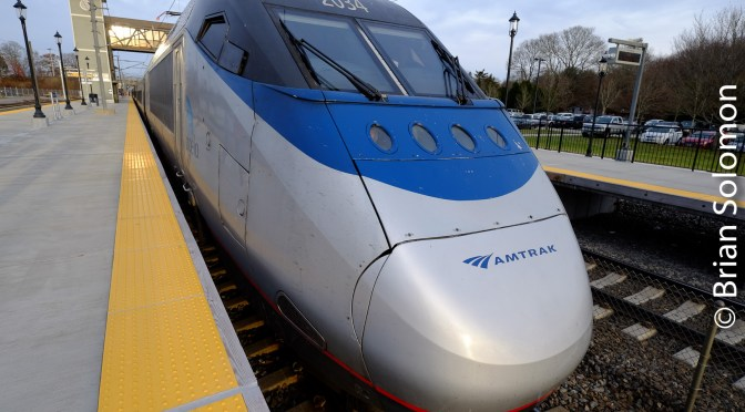 Amtrak HST at Kingston, Rhode Island.