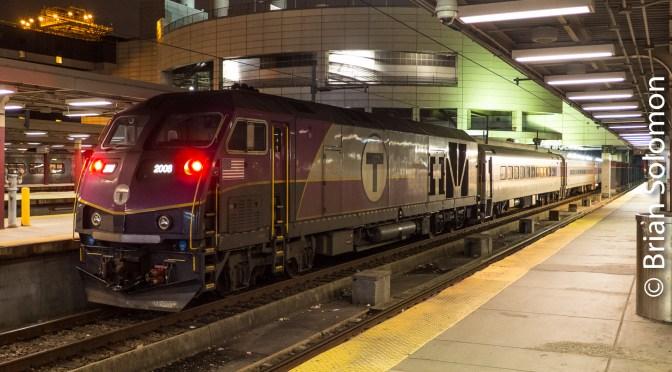 An Unusual Scene: MBTA at South Station, Boston December 2017.