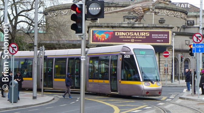 Dublin LUAS Cross City First Service Views—26 January 2018.