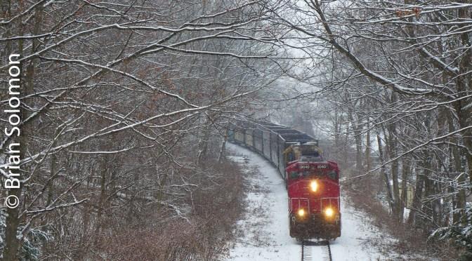 Winter at Bridge Street, Monson.