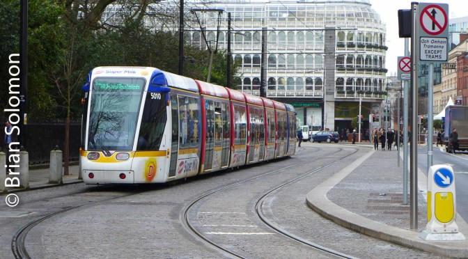 Milk Tram at St Stephens Green—LUAS Avonmore Ad Tram Round 2!