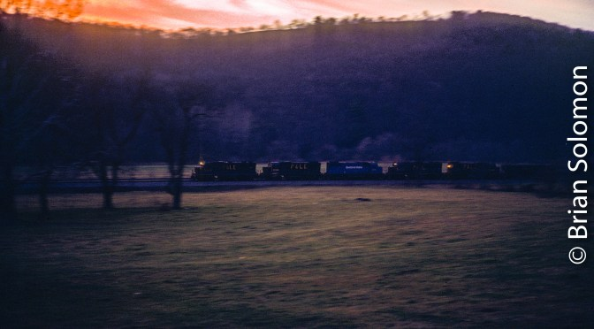 Pittsburgh & Lake Erie Coal Train: Saving a Sunset Chrome.