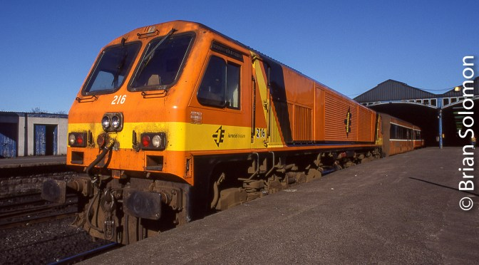 Irish Rail 216 in Ordinary Dress.