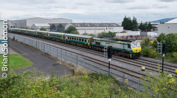 Irish Rail 217—Three Photos: Summer, Fall & Winter.