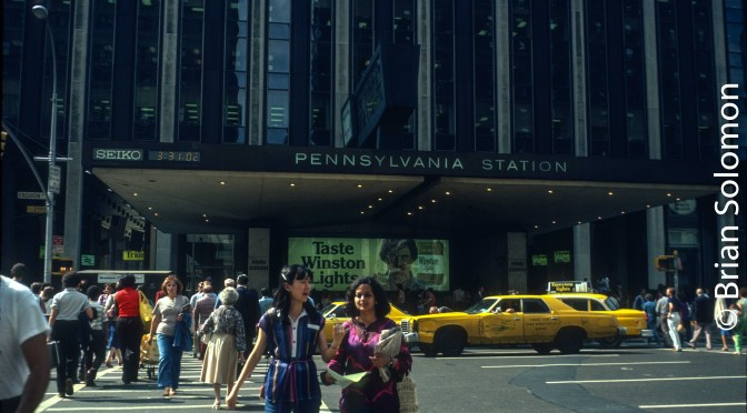 New York's Pennsylvania Station; 1979 and Last Week.