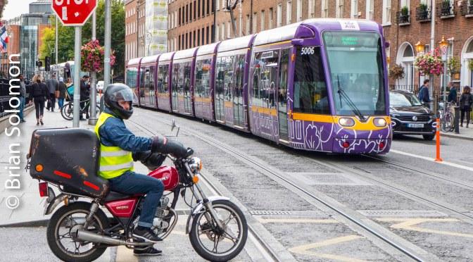 Purple Tram Harcourt Street.