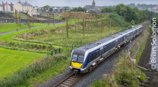 Northern Ireland Railways at River Foyle Peacebridge.