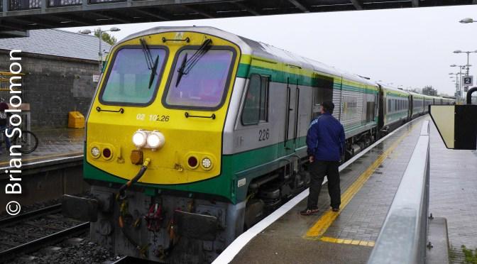Irish Rail 226 and its Great Southern & Western Railway Commemorative Plate.