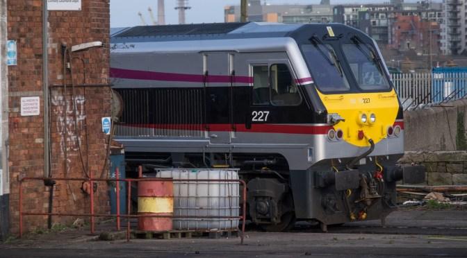 Irish Rail 227 in Three Photos.