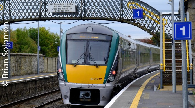 Irish Rail at Bagenalstown, October 2018—Fuji Zoom Lens Exercise.