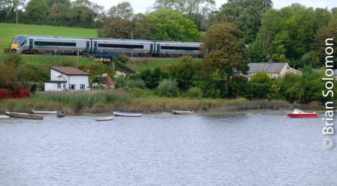 Rails along the River Slaney—Killurin, County Wexford.
