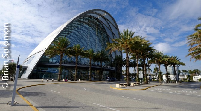 Palms, Sun and Glass: Anaheim Regional Transportation Intermodal Center.