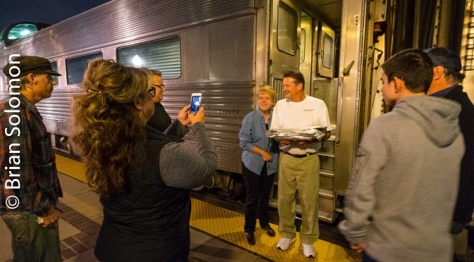 Tracking the Light Extra: Fullerton by Night—Dome Car on the Southwest Chief.