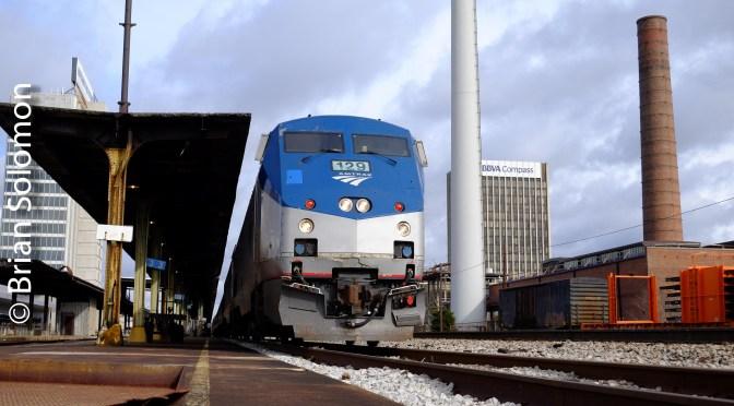 Amtrak's Crescent at Birmingham, Alabama.