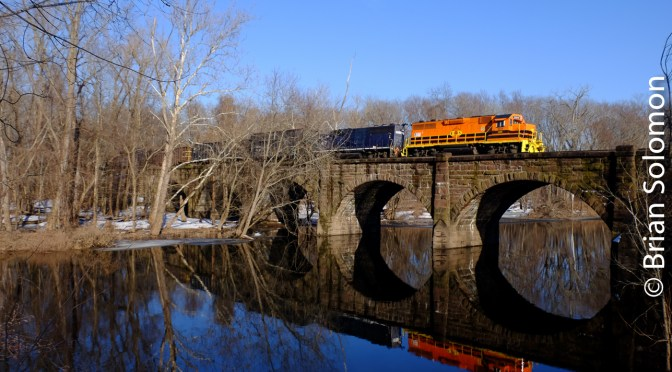 Connecticut Southern Crosses the Farmington River at Windsor.