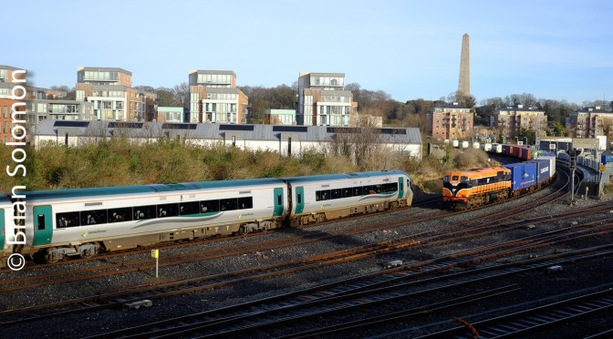 Two Trains on the Move at Islandbridge Junction!