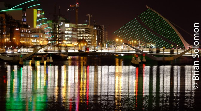Green Night in the Irish Capital: All Lit for the St Patrick's Day Festival.