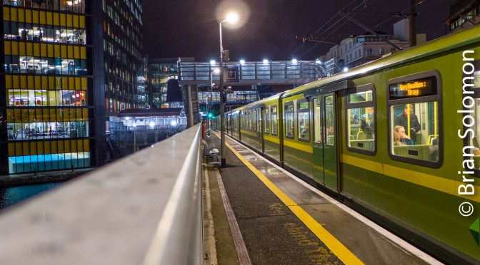 Irish Rail's Grand Canal Docks at Night and the Sperry Train.