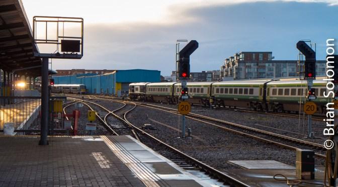 Heuston Station Evening Glint—Three Photos.
