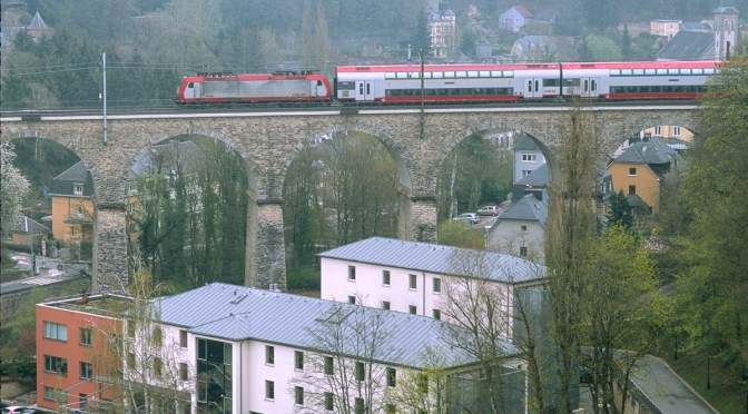 Double Deck on a Viaduct: Luxembourg Railways on Chrome.