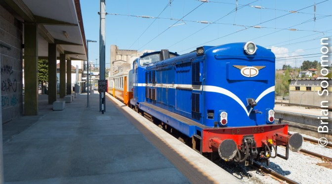 Portuguese Railways' English Electric Diesel Up Close.