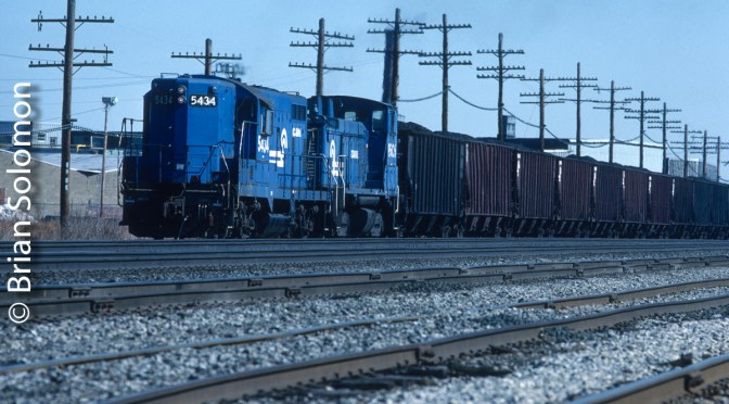 Conrail Local at Dunkirk: Kodachrome and Color-Correction.