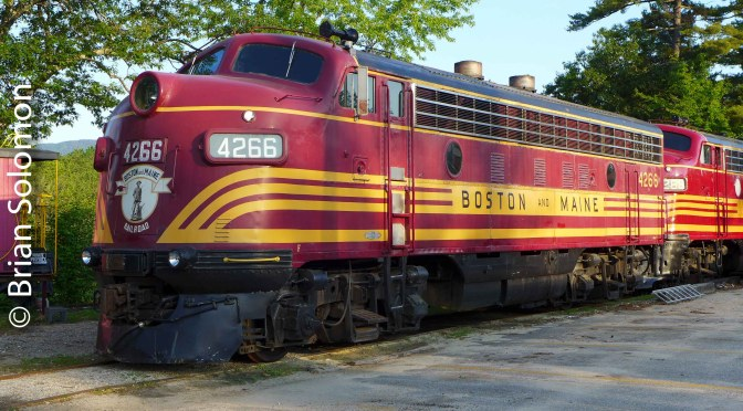 Boston & Maine F7As at North Conway.