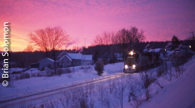 Sunrise at Cookshire, Quebec.