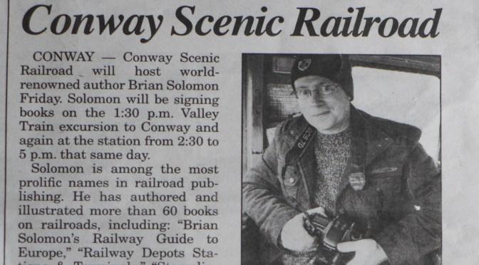 Headline: Author Brian Solomon at Conway Scenic Railroad