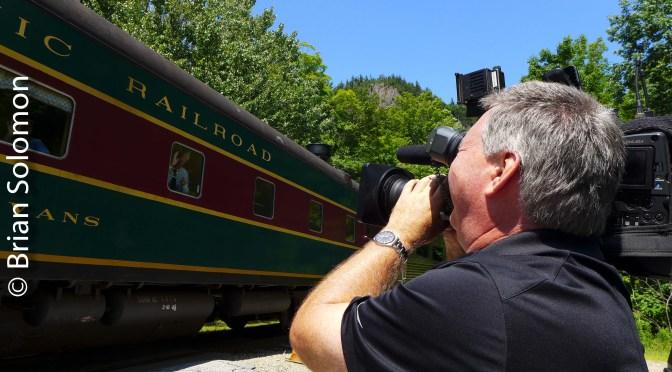 TV Crew Films Conway Scenic