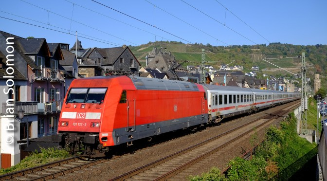 German Class 101 with IC Train at Oberwesel.