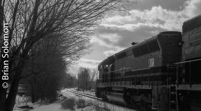 Coming and Going with New England  Central at Northfield, Massachusetts.