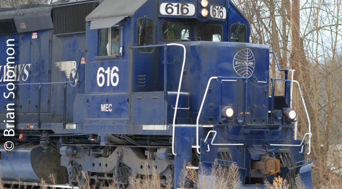 Pan Am Railways at Greenfield, Massachusetts on January 12, 2014.